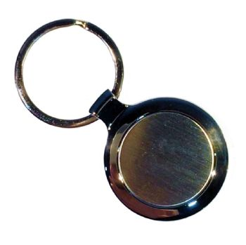 Keyring Blank Round 27mm and clear dome